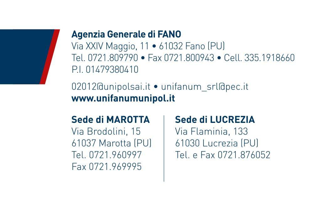 biglietto visita unifanum retro