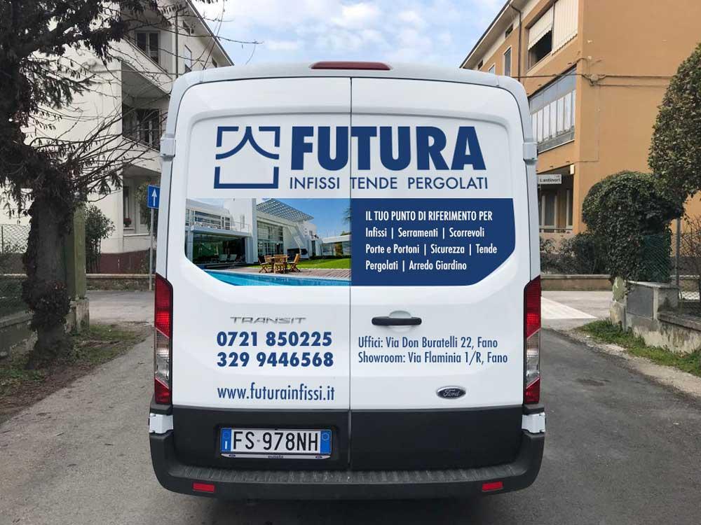 futura infissi furgone retro