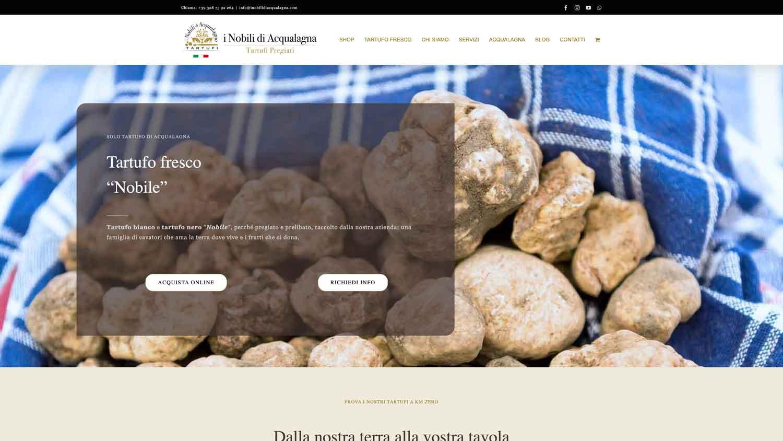sito web I nobili tartufi di acqualagna